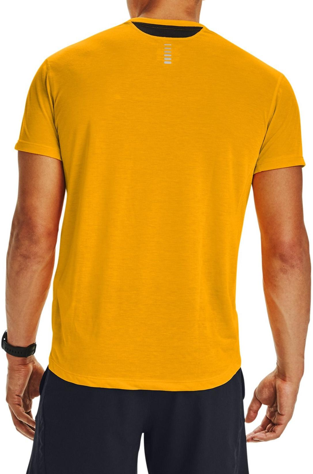 Orange Under Armour Streaker 2.0 Short Sleeve Mens Running Top