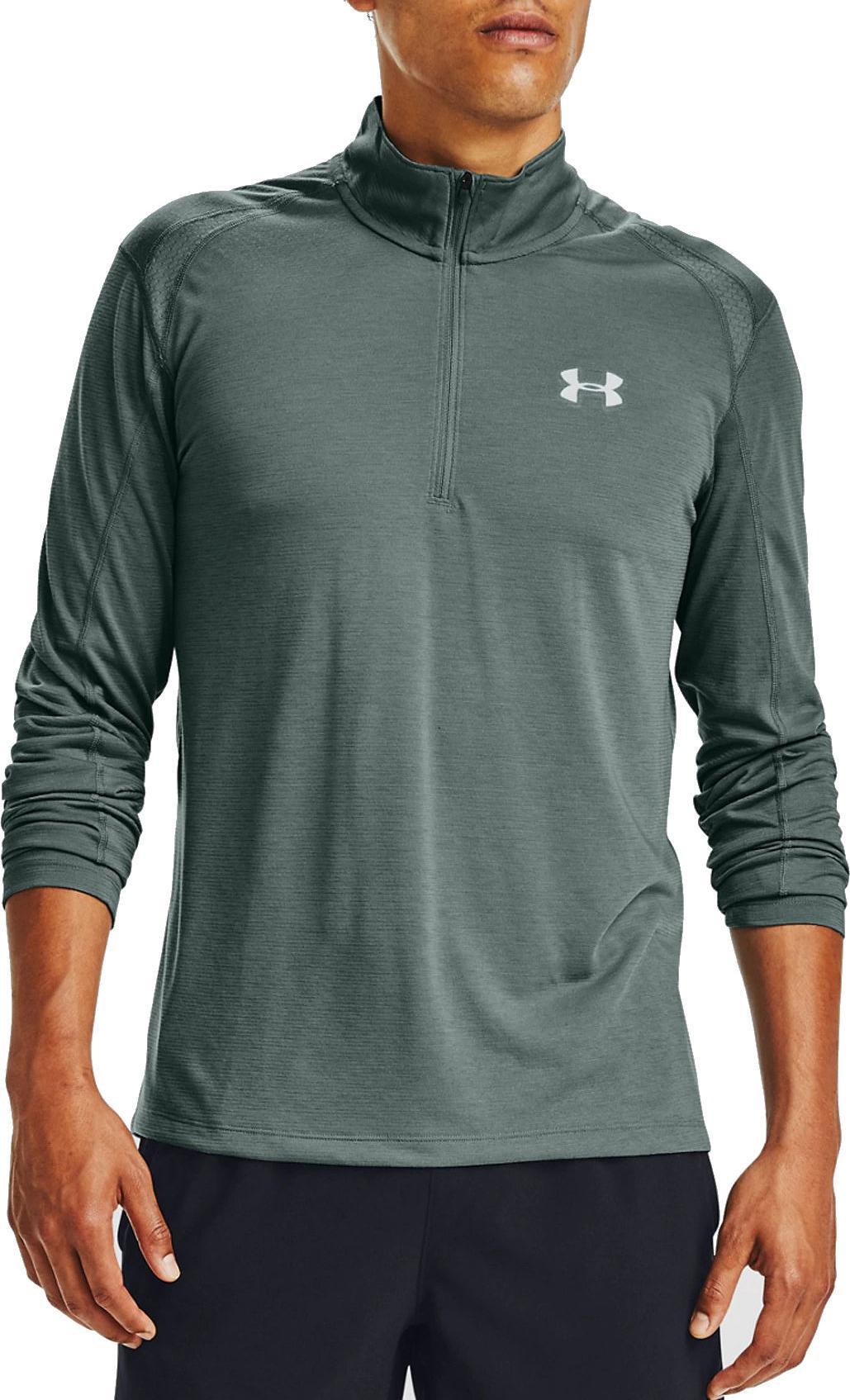 atmungsaktives Sportshirt mit Half Zip Under Armour Herren Streaker 2.0 Half Zip schnelltrocknendes Funktionsshirt mit Rei/ßverschluss