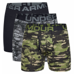 Under Armour Charged Cotton 6in 3 Pack Novelty Boxeralsók