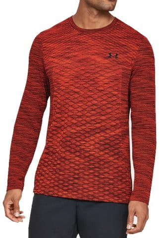 Under Armour Vanish Seamless LS Novelty-RED Hosszú ujjú póló