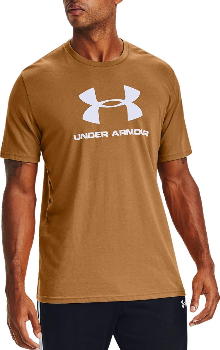 New Under Armour UA Men/'s Sportstyle Logo SS T-Shirt Red XL