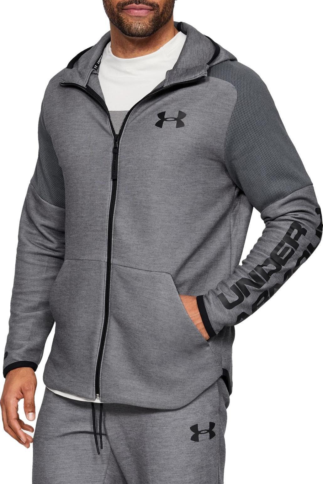 Temprano orgánico taller  Hooded sweatshirt Under Armour MOVE LIGHT GRAPHIC FZ - Top4Running.com