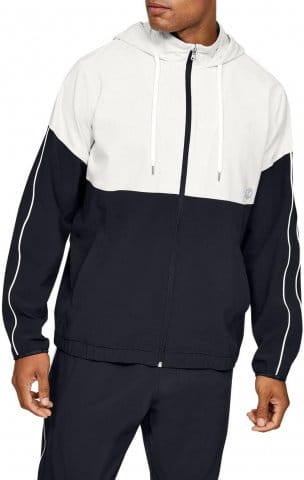 Hanorac cu gluga Under Armour Athlete Recovery Woven Warm Up Top