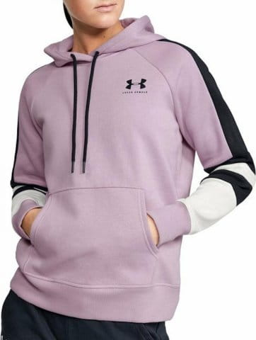 Hanorac cu gluga Under Armour RIVAL FLEECE LC LOGO HOODIE NOVELTY