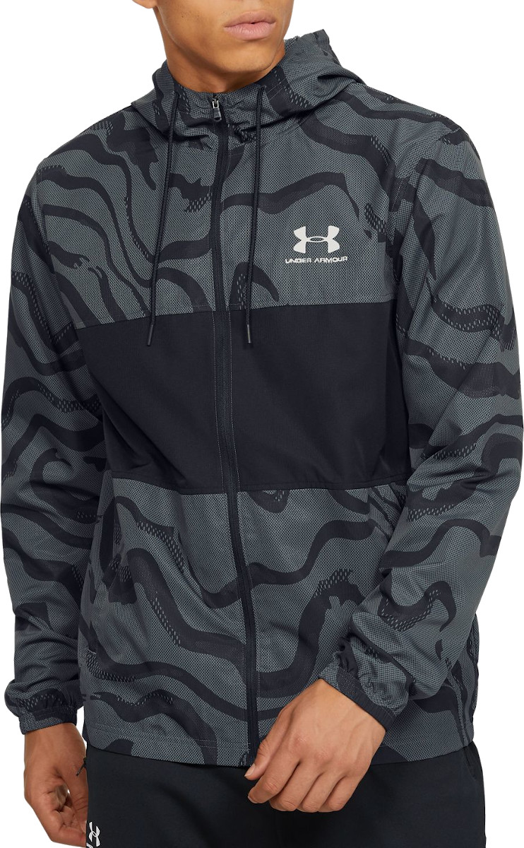 Chaqueta con capucha Under Armour SPORTSTYLE WIND PRINTED HOODED JACKET
