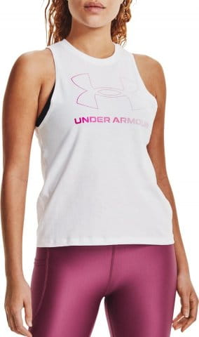 Singlet Under Armour Live Sportstyle Graphic Tank-WHT