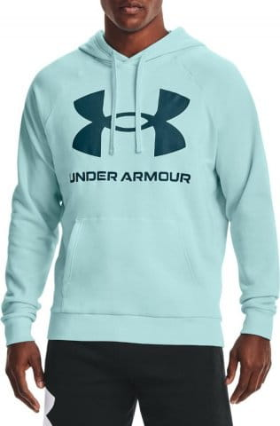 Mikina s kapucňou Under Armour UA Rival Fleece Big Logo HD-BLU