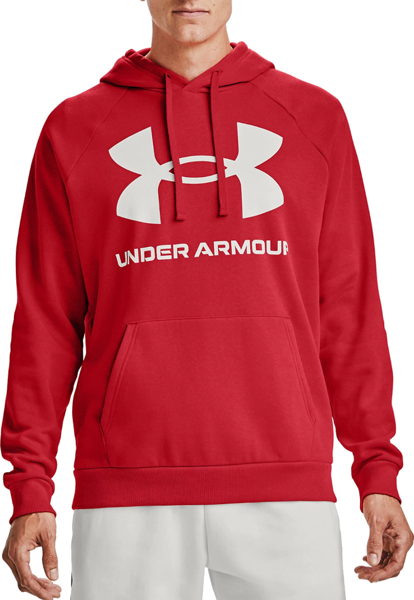 Under Armour Sudadera con Capucha de Tejido Fleece Y Logotipo UA Rival Sudadera con Capucha Hombre