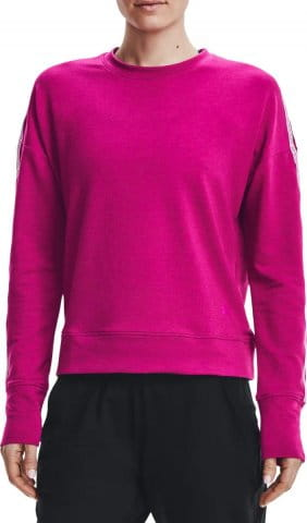 Sweatshirt Under Armour UA Rival Terry Taped Crew-PNK