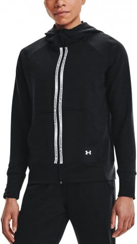 Mikina s kapucňou Under Armour Rival Terry Taped FZ Hoodie-BLK