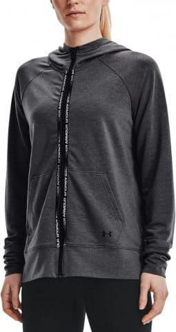Mikina s kapucňou Under Armour Rival Terry Taped FZ Hoodie-GRY