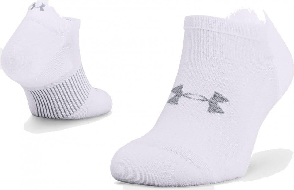 Socken Under Armour UA ArmourDry Run No Show-WHT