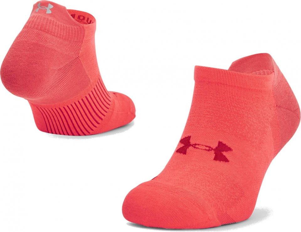 Socken Under Armour UA ArmourDry Run No Show-RED