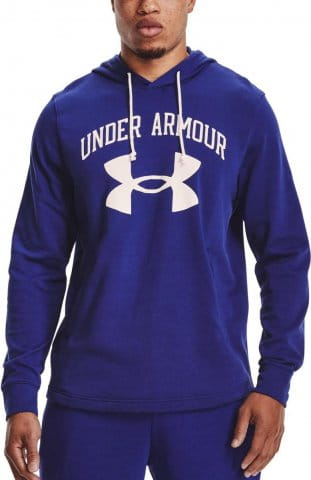 Mikina s kapucňou Under Armour UA RIVAL TERRY BIG LOGO HD-BLU