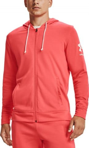Mikina s kapucňou Under Armour UA RIVAL TERRY FZ HD-RED