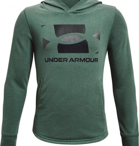 Mikina s kapucňou Under Armour UA RIVAL TERRY HOODIE-GRN