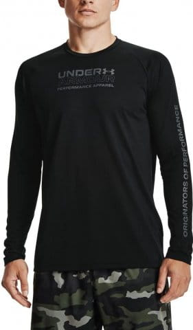 Tricou cu maneca lunga Under Armour UA TECH 2.0 ORIG OF PERF LS-BLK