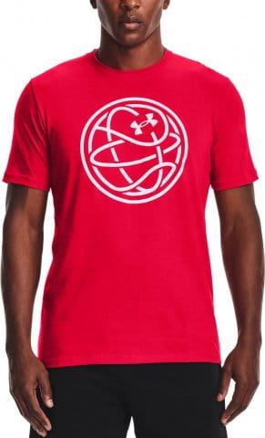 Under Armour UA HOOPS ICON TEE-RED Rövid ujjú póló