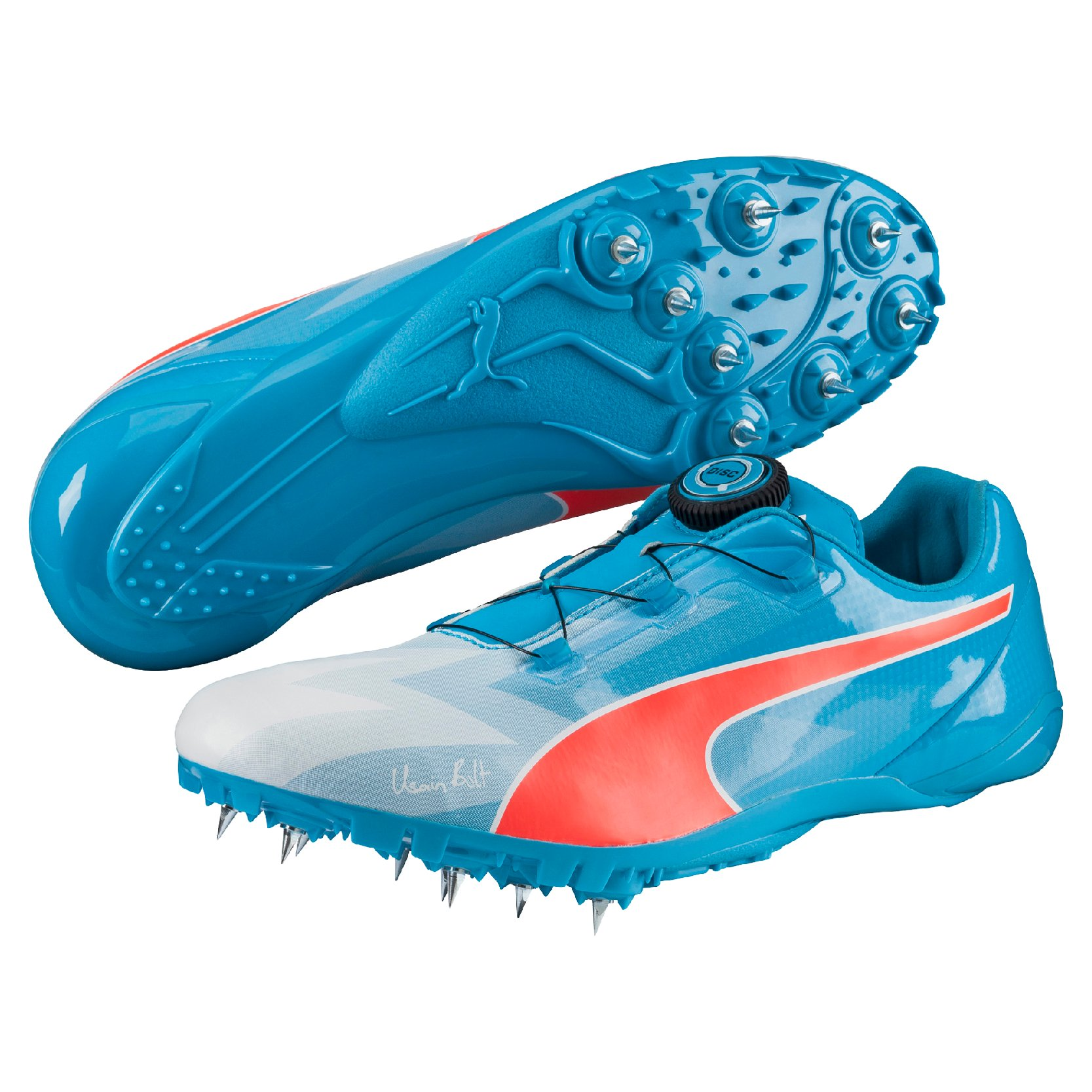 Track shoes/Spikes Puma Bolt EvoSPEED DISC atomic blue-red blast