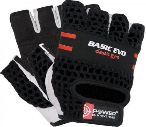 POWER SYSTEM-GLOVES BASIC EVO- RED