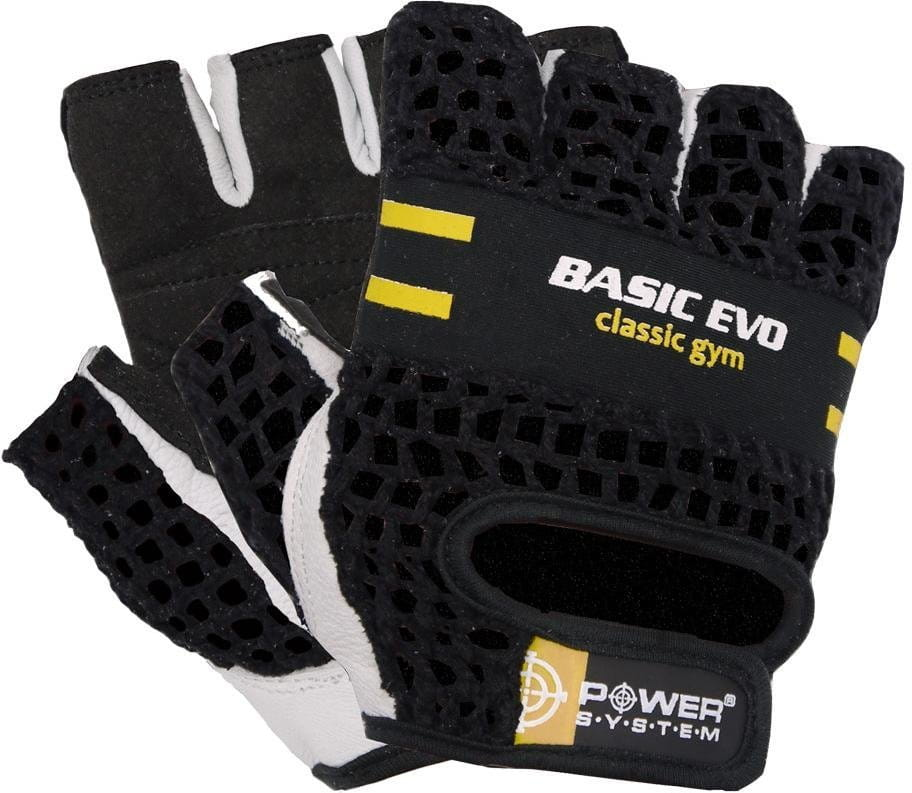 Power System POWER SYSTEM-GLOVES BASIC EVO- YELLOW Kesztyűk