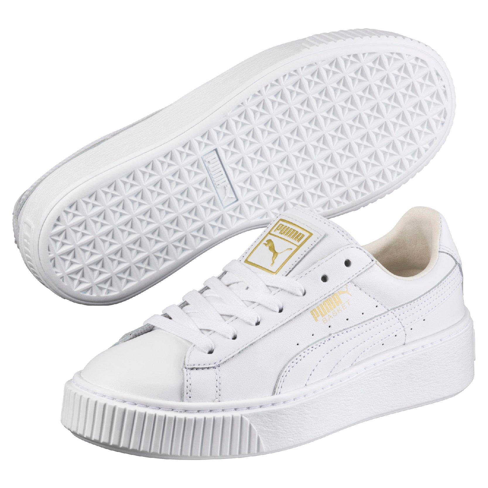 puma platform white sneakers