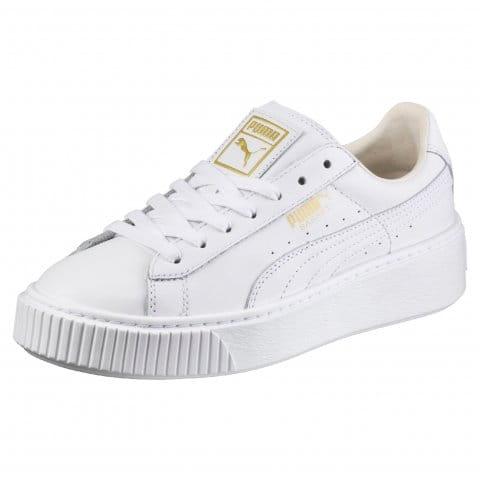 Shoes Puma Basket Platform Core White