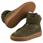 Platform Mid OW Wn s Olive Night-Ol