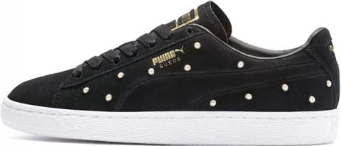 Pearl Studs Suede