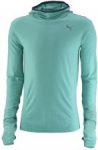 Mikina s kapucí Puma PR_Cross_Hooded L S Tee pool green