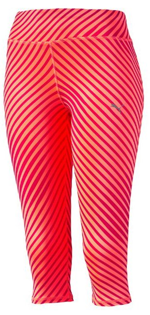 Kalhoty 3/4 Puma Graphic 3 4 Tight W rose red--fluro peac
