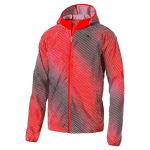 Bunda s kapucí Puma Packable Woven Jacket Red Blast-AOP