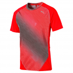 Triko Puma Graphic S S Tee Red Blast-AOP graphic