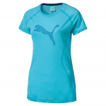 Core-Run S S Logo Tee W Nrgy Turquoise