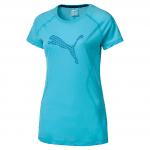 Core-Run S S Logo Tee W Nrgy Turquoise