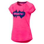 Run S S Tee W KNOCKOUT PINK Heather
