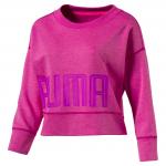 Triko s dlouhým rukávem Puma Yogini Pullover ULTRA MAGENTA Heather