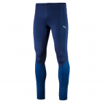 Kalhoty Puma Graphic Long Tight Blue Depths