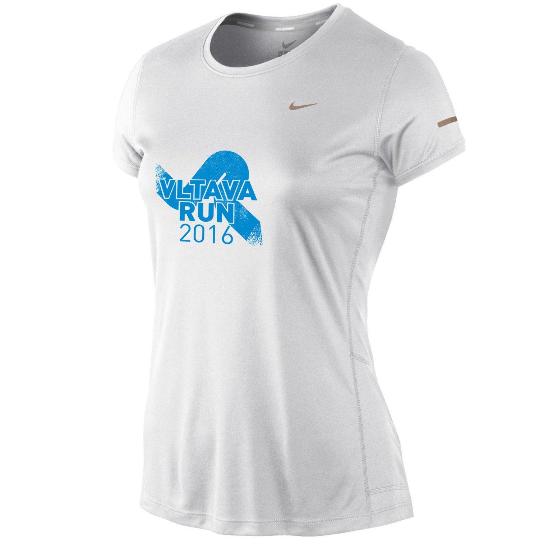 Triko Nike MILER SS CREW TOP VLTAVA RUN