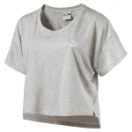 Archive Logo Cropped Tee Light Gray Heat