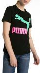 Triko Puma Classics Logo Tee Cotton Black--green