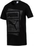 Triko Puma Graphic Brand Box Tee Cotton Black
