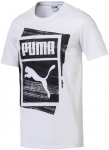 Triko Puma Graphic Brand Box Tee White