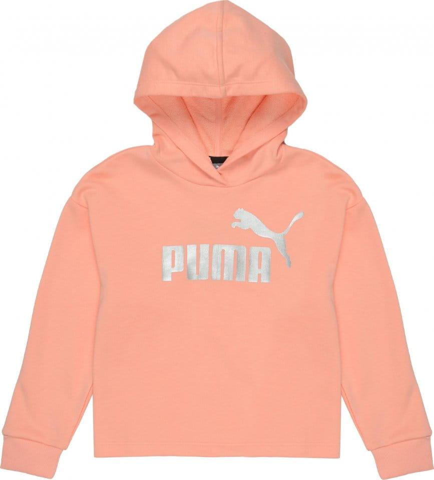 Dětská mikina s kapucí Puma Essentials+ Logo Cropped