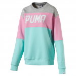 Mikina Puma ATHLETIC Crew Sweat W ARUBA BLUE
