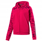 Mikina s kapucí Puma URBAN SPORTS FZ Graphic Hoody W Love Pot