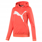 Mikina s kapucí Puma URBAN SPORTS Big Cat Hoody W Hot Coral