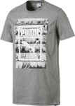 Triko Puma Photoprint Shoes Tee Medium Gray Heather