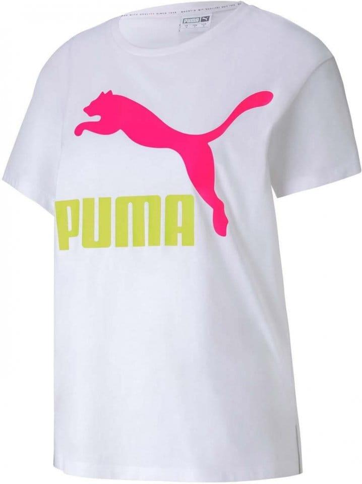 Triko Puma Classics Logo Tee White-RIDER