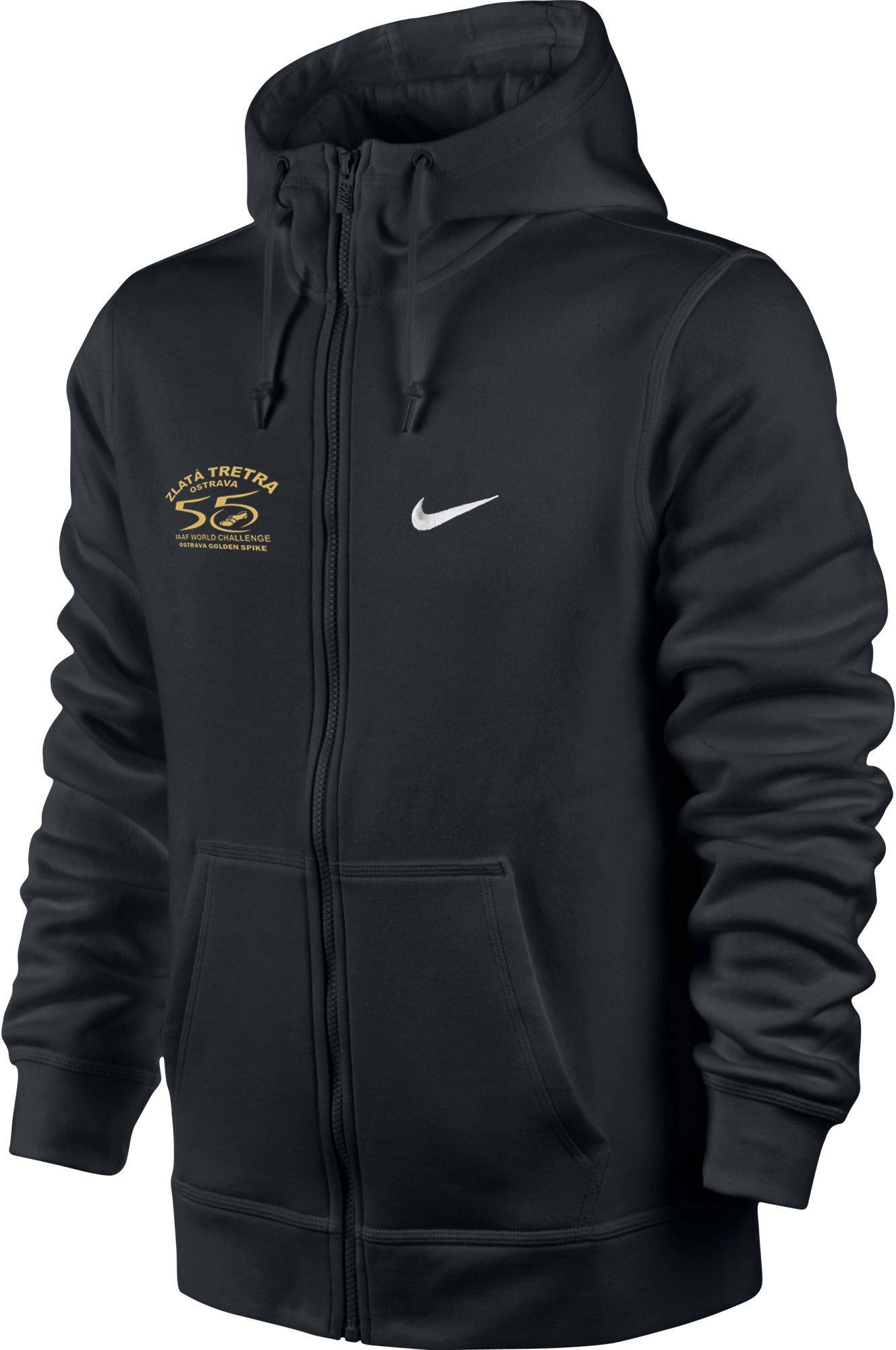 Mikina s kapucí Nike CLUB FZ HOODY SWOOSH Zlata tretra